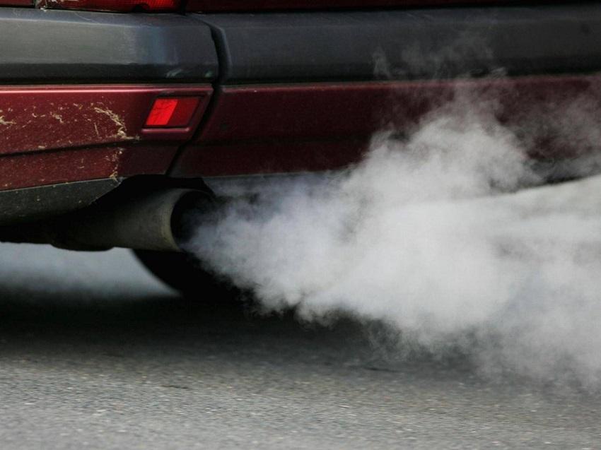 car smoke white